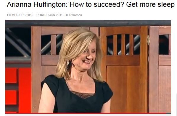 Arianna Huffington talks about getting enough sleep.