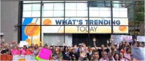 I'm on the NBC Today show in the US of A……