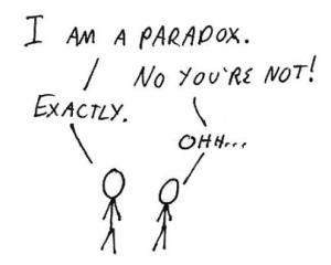 Paradoxically speaking…